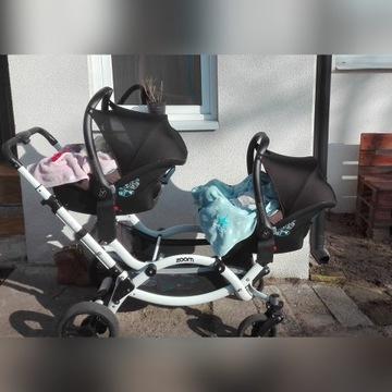 Wózek bliźniaczy ABC Zoom 3w1