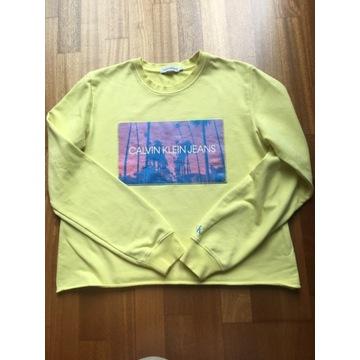 CALVIN CLEIN piękna zółta bluza