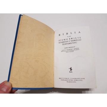 BIBLIA Pismo Święte St. i N. Testamentu 1975