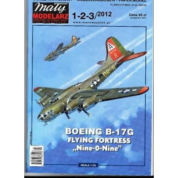 Mały Modelarz 1-2-3 2012 B-17G model 1:33oryginał