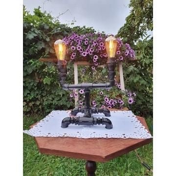 Lampa Industrialna z rur