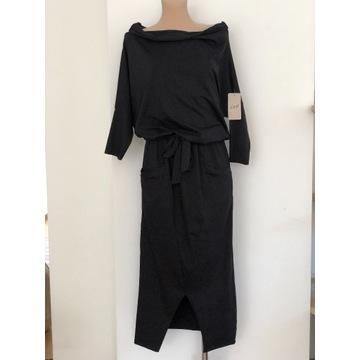 HIT Włoska, piękna sukienka o fantazyjnym kroju