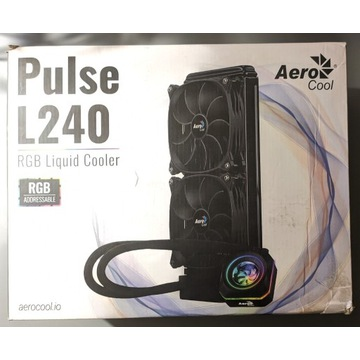 Chłodzenie wodne AIO Aerocool Pulse L240 ARGB, AM4