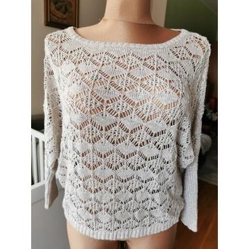 ażurowy sweter Carnaby r. L/XL z błyszczącą nitką