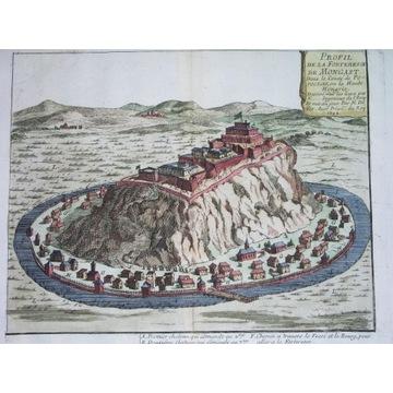 1695 ORYGINAŁ Munkacz Ukraina Siedmiogród TWIERDZA