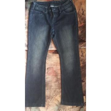 Jeansy spodnie r. 140 C&A