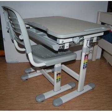 Regulowane biurko + krzesło FunDesk PICCOLINO GREY