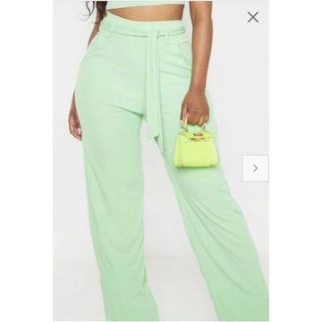 PrettyLittleThing spodnie miętowe elast.roz.42