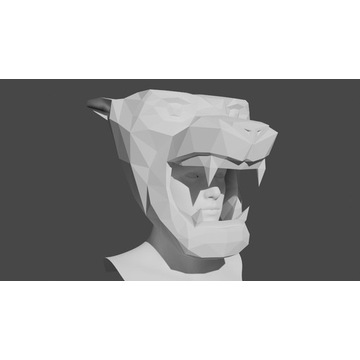 Maska 3D papierowa - Tygrys