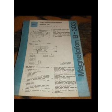 SCHEMAT  SERWISOWY MAGNETOFONU B-303