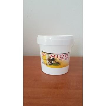 Miód Pszczeli  Akacjowy  wiaderka 1.5 kg
