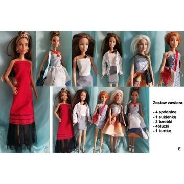 """Ubranka dla Barbie zestaw ubrań  """"E""""  wysyłka 24h"""