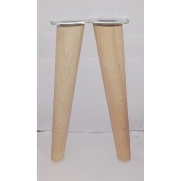 Nogi nóżki drewniane bukowe H- 30 cm Skośna