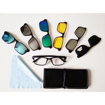 Okulary z nakładkami przeciwsłonecznymi + GRATIS!