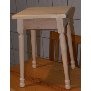Taboret, stołek drewniany -olcha