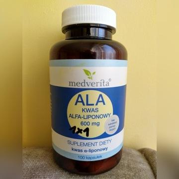 Medverita ALA Kwas Alfa-liponowy 600mg 100 kaps