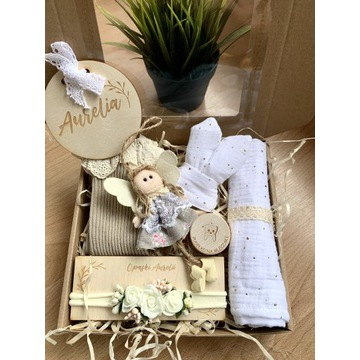 Zestaw prezentowy dla dziecka Chrzest baby shower