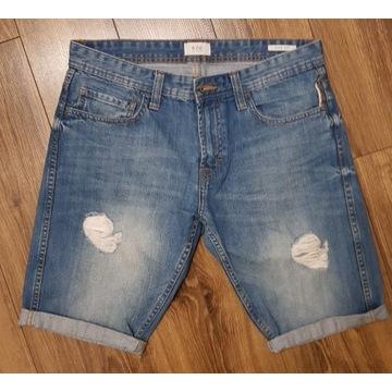 szorty jeans Esprit błękitne roz. 32 slim fit