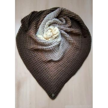 Chusta ombre ręcznie robiona, handmade, szydełko.