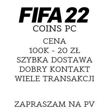FIFA 22 PC 100K 20ZŁ