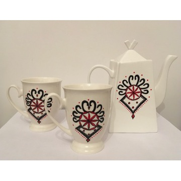 Góralski oryginalny zestaw do kawy i herbaty
