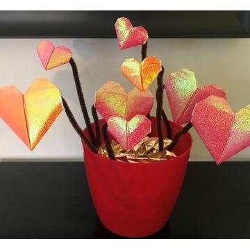 Zestaw Kreatywny Origami - serca na walentynki