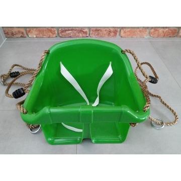 Huśtawka kubełkowa plastikowa ogrodowa - zielona
