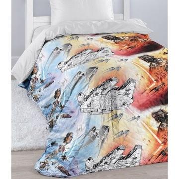 Narzuta na łóżko Star Wars świecąca 140x200 pled