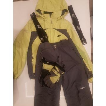 Komplet narciarski 4F kurtka+spodnie+rękawiczk 158