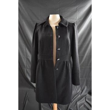 Czarny wełniany płaszcz H&M 40 L