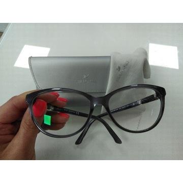 Swarovski okulary zerówki cyrkonie szare