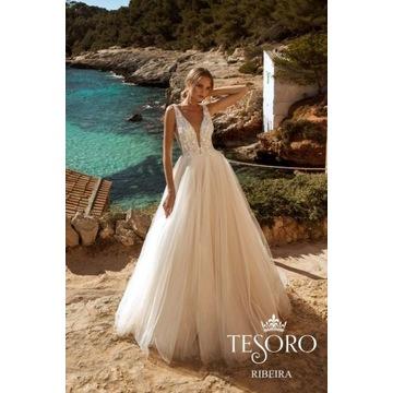 Suknia ślubna Tesoro Ribeira, rozm. 34