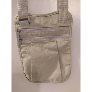 Saszetka, torebka na dokumenty, na szyję lub ramię