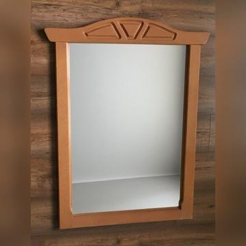 Duże lustro w masywnej drewnianej ramie 100 x 76