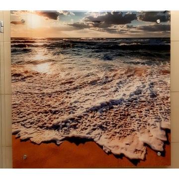 panel szklany dekor grafika zachód morza 100x160cm