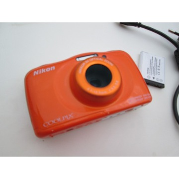 Nikon coolpix NW150, jak nowy, pomarańczowy, wiFi