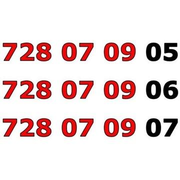 728 07 09 0x ŁATWY ZŁOTY NUMER STARTER x 3