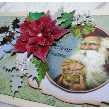 Kartka 3D Boże Narodzenie, Święta DL hand made