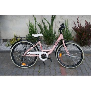 Aluminiowy rower juniorski damka KROSS 24'' koła