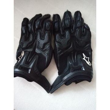 Motocyklowe rękawiczki skórzane damskie