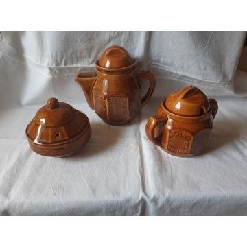 Trzyczęściowy zestaw ceramiczny