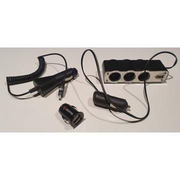 Rozgałęziacze podwójny, potrójny i kabel