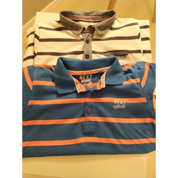 Polo koszulki 2 sztuki Next i Coccodrillo 128