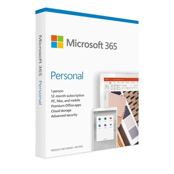 Microsoft 365 Personal subscription 1 year