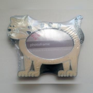 Ramka do zdjęć metalowa Kot