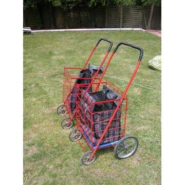 solidny wózek na zakupy polecam