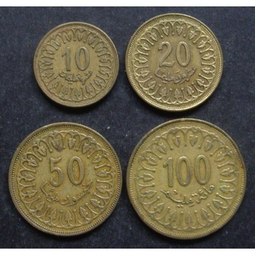Tunezja - 10+20+50+100 Milim