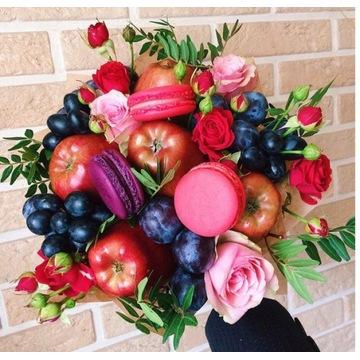 Bukiet z owoców i słodyczy na każdę wydarzenie