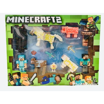 Zestaw 9 figurek Minecraft - wysyłka z Polskie