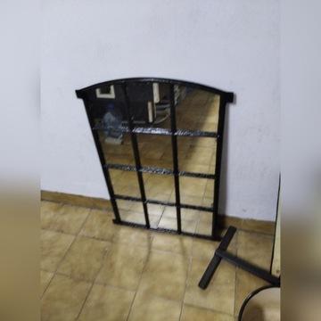 okno żeliwne z lustrem